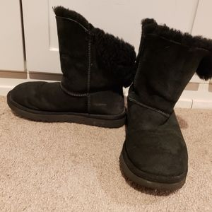 Ugg Bailey II Short Button Boots Black Size 7